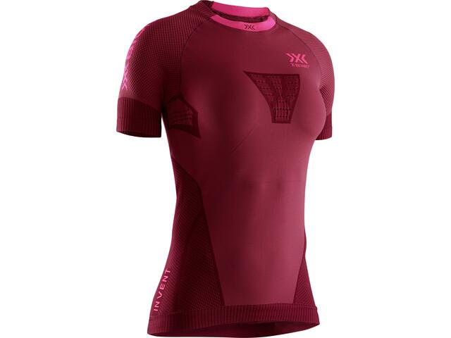 X-Bionic Invent 4.0 Run Speed Maglietta a maniche corte Donna, rosso